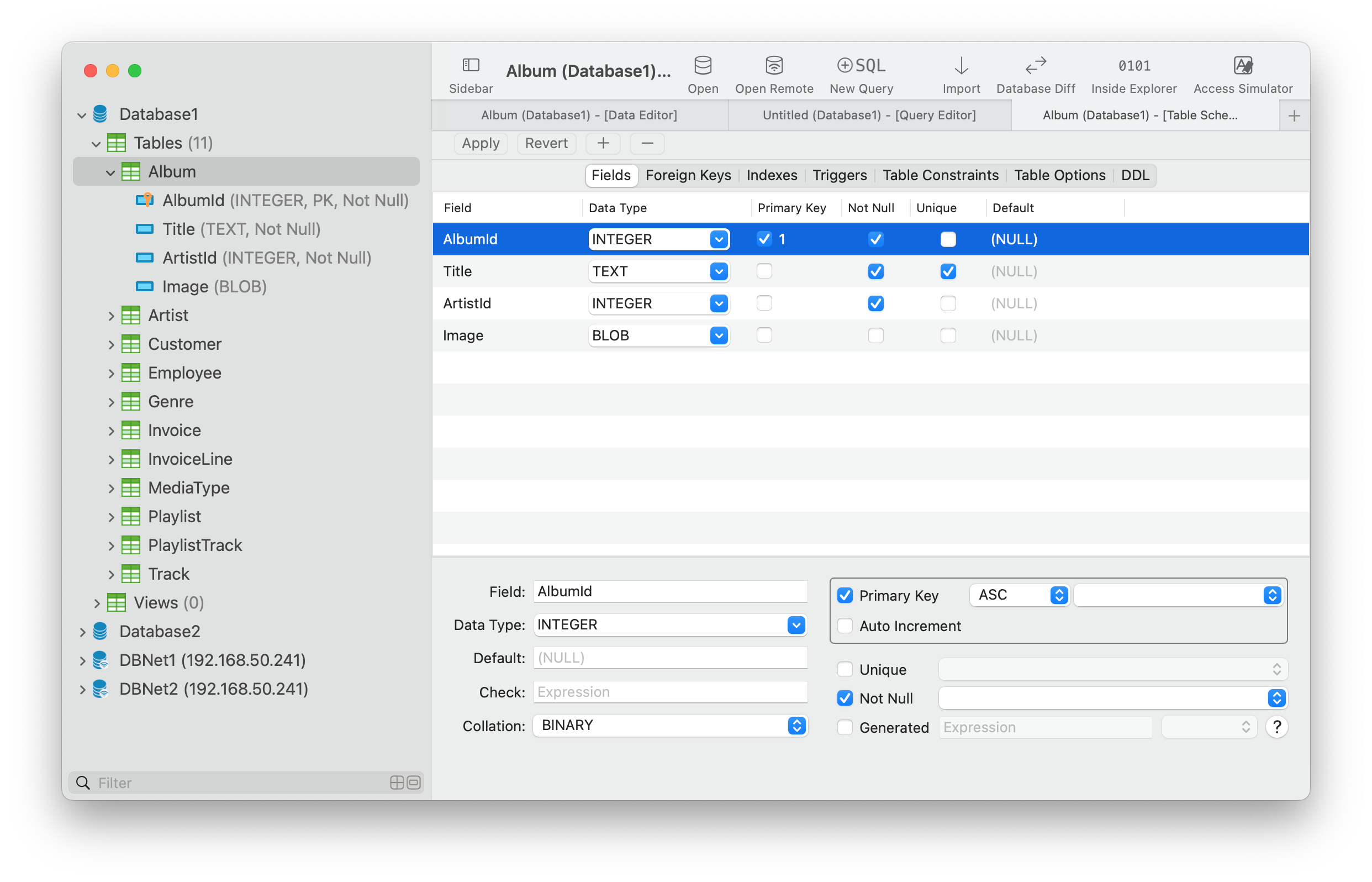 The best SQLite GUI Tool for Mac - TablePlus